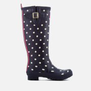 Joules Women's Welly Print Wellies - French Navy Spot