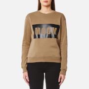 MSGM Women's Logo Sweatshirt - Beige