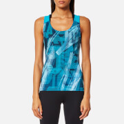 Asics Women's Fitted GPX Tank Top - Crystal Blue/Condition Print