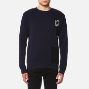 McQ Alexander McQueen Men's Curtis Colourblock Crew Neck Sweatshirt - Indigo
