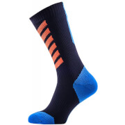 Sealskinz MTB Mid Socks with Hydrostop - Black/Blue/Orange