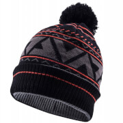 Sealskinz Waterproof Bobble Hat - Black/Grey/Red