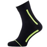 Sealskinz Road Max Ankle Socks - Black/Yellow