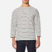 Armor Lux Men's Beg Meil 3/4 Sleeve Breton Stripe Top - Nature/Navire