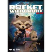 Figurines Rocket Raccoon et Groot Gardiens de la Galaxie Vol.2 Beast Kingdom Egg Attack