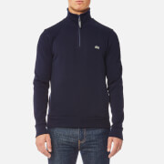 Lacoste Men's Quarter Zip Sweatshirt - Navy Blue/Methylene