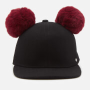 Karl Lagerfeld Women's K/Cat Pom Pom Cap - Black