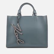 Karl Lagerfeld Women's K/Metal Signature Shopper Bag - Thunder