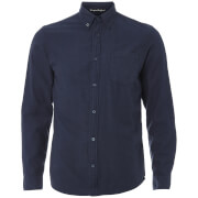 Tokyo Laundry Men's Westbridge Twill Long Sleeve Shirt - True Navy