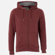Tokyo Laundry Men's Ashwood Zip Through Hoody - Red Mahogany