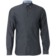 Le Shark Men's Tobruk Oxford Twill Long Sleeve Shirt - Black