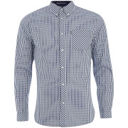 Le Shark Men's Pembridge Gingham Long Sleeve Shirt - Dark Blue