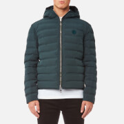 Versace Collection Men's Hooded Bubble Jacket - Verde Medio-Verde Scuro