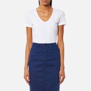 Tommy Hilfiger Women's Lizzy V Neck Short Sleeve Top - Classic White