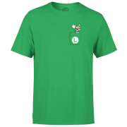 Nintendo Super Mario Luigi Pocket Print Men's Green T-Shirt