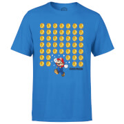 Nintendo Super Mario Coin Drop Men's Blue T-Shirt