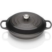 Le Creuset Signature Cast Iron Shallow Casserole Dish - 26cm - Flint