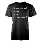 Casually Explained Is She Into You? Black T-Shirt