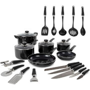Morphy Richards 970050 Equip 6 Piece Pan Set with 14 Piece Tool Set - Black