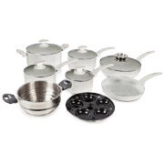 Tower IDT91021GR Tower Stone Coated 9 Piece Pan Set - Grey