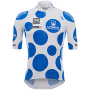 Santini La Vuelta 2017 King of the Mountain Jersey - White/Blue