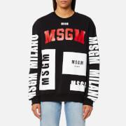 MSGM Women's Multi Logo Sweatshirt - Black