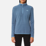 The North Face Women's 100 Glacier 1/4 Zip Fleece Jumper - Provincial Blue Stripe