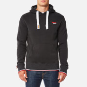 Superdry Men's Orange Label Tri Grit Hoody - Washed Black