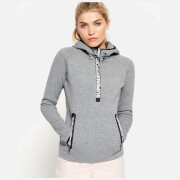 Superdry Women's Superdry Gym Tech Hooded Sweatshirt - Speckle Charcoal