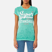 Superdry Women's Standard Issue Burnout T-Shirt - Ice Green Snowy