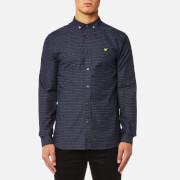 Lyle & Scott Men's Multi-Coloured Running Stitch Shirt - Navy