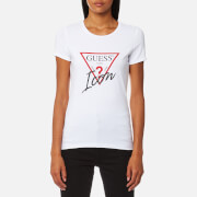 Guess Women's Short Sleeve Icon T-Shirt - True White