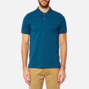 Joules Men's Tipped Polo Shirt - Teal Marl