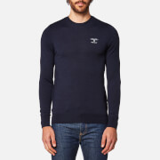 Barbour Men's Harley Crew Neck Knitted Jumper - Navy