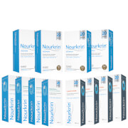 Nourkrin Woman Hair Growth Supplements 12 Month Bundle with Shampoo and Conditioner x4 (Worth £623.56)