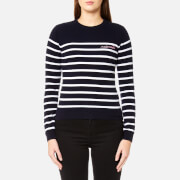 Maison Labiche Women's Mademoiselle Jumper - Off White/Dark Blue