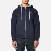 GANT Men's Original Full Zip Sweat Hoody - Evening Blue