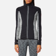 Superdry Sport Women's Essentials Track Top - Black/Speckle Charcoal