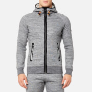 Superdry Sport Men's Gym Tech Zip Hoody - Concrete Marl/Ice Space Dye