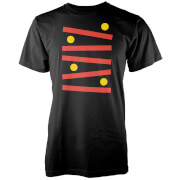 Retro Gaming Abstract Ball Men's Black T-Shirt