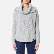 Superdry Women's Lia Cable Cowl Neck Jumper - Grey Marl