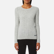 Superdry Women's Luxe Mini Cable Knitted Jumper - Grey Marl