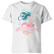 Mermaid Vibes Kid's White T-Shirt