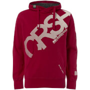 Sweat à Capuche Homme Intersink Crosshatch - Rouge Barbade