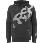 Sweat à Capuche Homme Intersink Crosshatch - Gris Charbon