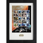 Star Wars Framed Stamps - Heroes And Villains Collectors Sheet (43cm x 29cm)