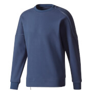 adidas Men's ZNE Training Crew Sweatshirt - Navy