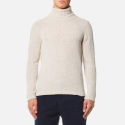 Folk Men's Interference Roll Neck Jumper - Ecru
