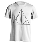 Harry Potter Men's Deathly Hallows Symbol T-Shirt - White