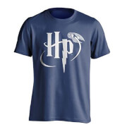 T-Shirt Homme Logo Vif d'Or Harry Potter - Bleu
